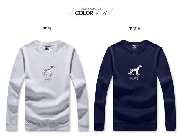 ☆BOY-2☆ 【KK6853】素面圓領LOVE字母滾邊大學T 1