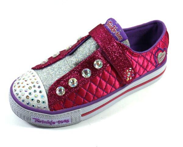 陽光運動館:[陽光樂活]零碼SKECHERS(童)女童系列燈鞋TWINKLETOESShuffles-10689LHPPR粉紅