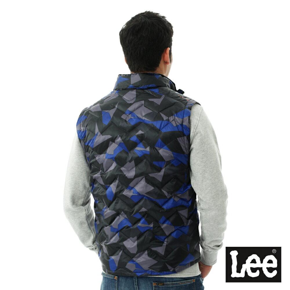 Lee  HEAT迷彩印花舖棉外套-男款-藍 8