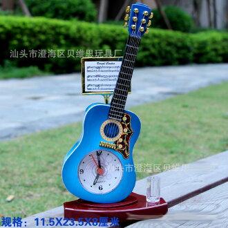 搖滾吉他樂譜鬧鐘樂器創意禮品 鬧鐘座鐘 十天預購+現貨