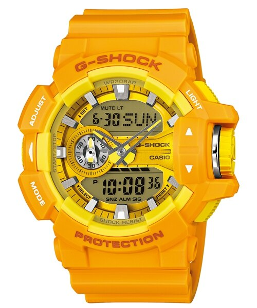 國外代購 CASIO G-SHOCK GA-400-1A 雙顯 大錶面 運動防水手錶腕錶電子錶男女錶 大黃蜂