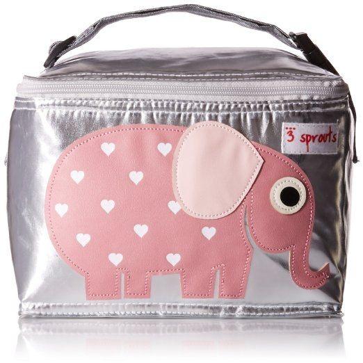 【原廠公司貨】加拿大3 Sprouts 午餐袋/母乳保冷/保溫袋-大象