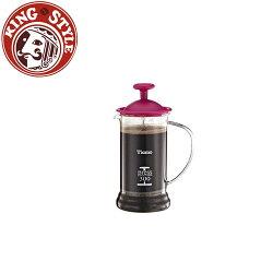 金時代書香咖啡 Tiamo 多功能法式玻璃濾壓壺 300cc 粉色 HG2109PK