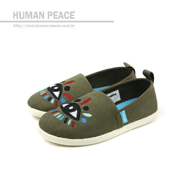 native VENICE EMBROIDERED CHILD 洞洞鞋 墨綠 小童 no374