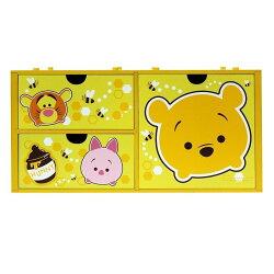 【真愛日本】17092600001 橫式三抽盒-TSUM維尼家族 迪士尼 小熊維尼 POOH 維尼 小豬 三抽盒 置物盒 收納盒 日用品 居家百貨