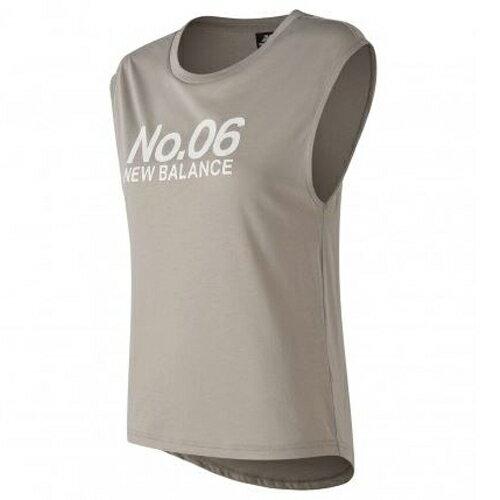New Balance 女裝 背心 休閒 247 SPORT 加長式下擺 特殊剪裁 灰粉【運動世界】AWT83591FWT