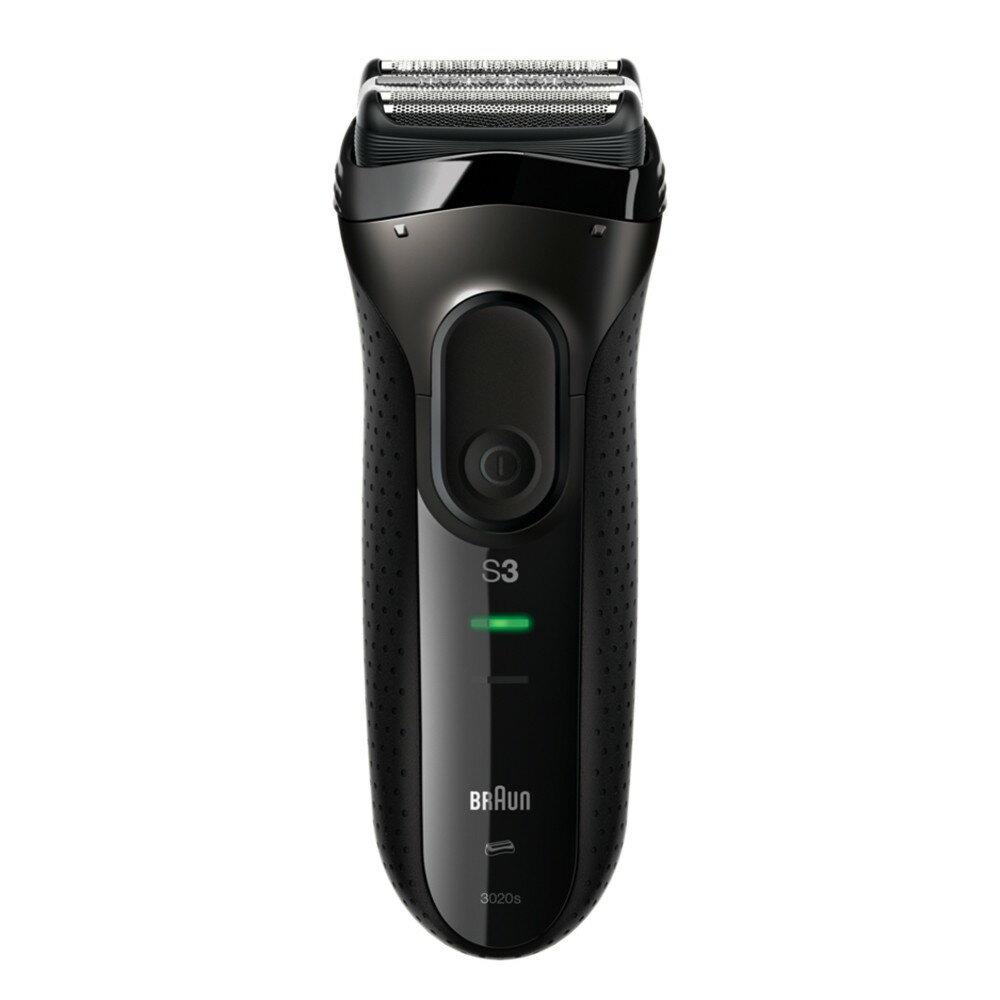 【BRAUN德國百靈】[hengstyle恆隆行]新三鋒系列電鬍刀(3020s-B)(黑)