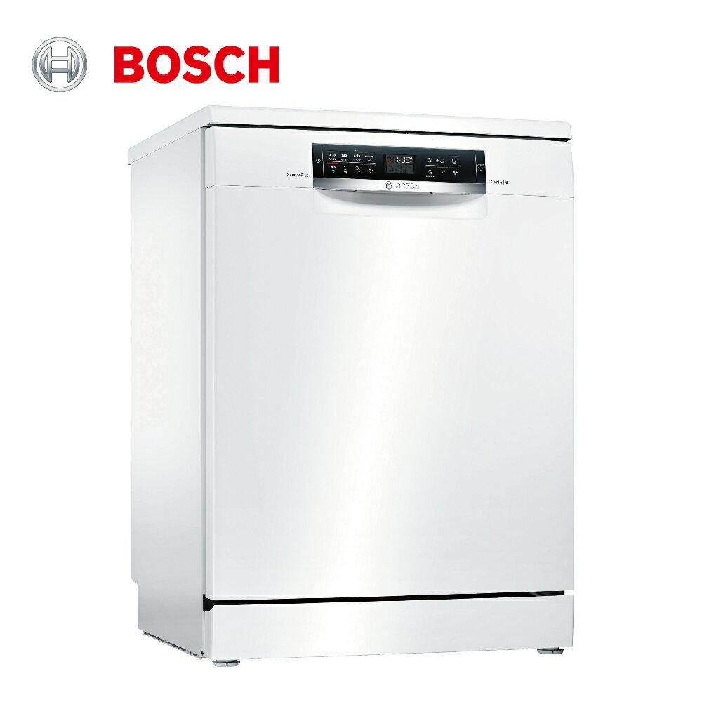★贈基本安裝【BOSCH博世】60cm 13人份 110V獨立式洗碗機(SMS68IW00X)