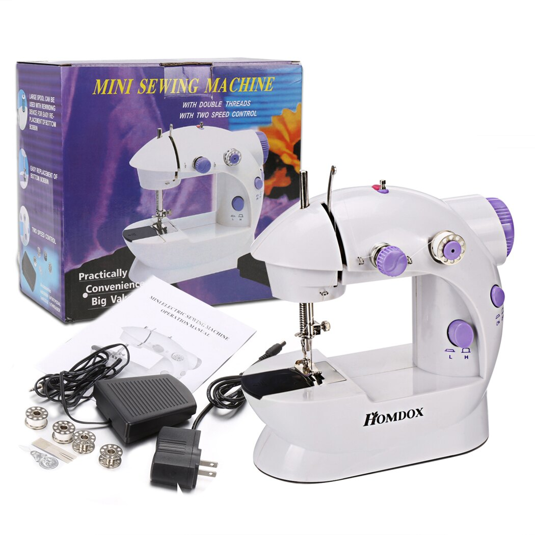 Mini Portable Sew 2-Speed Sewing Machine + 4 Bobbins 6