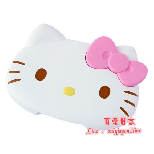 【真愛日本】16090900021紙巾蓋-KT大臉粉結  三麗鷗 Hello Kitty 凱蒂貓 濕紙巾蓋 嬰兒用品