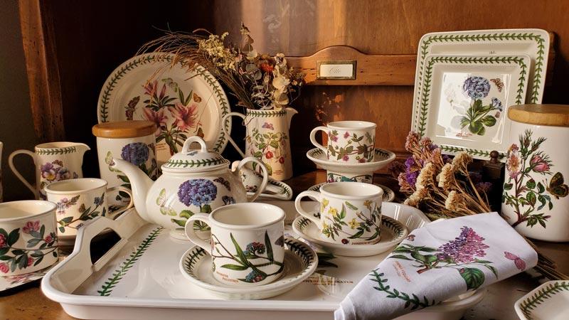 【雙人下午茶組】英Botanic Garden經典植物園系列-兩杯(直筒杯)一壺組加贈托盤