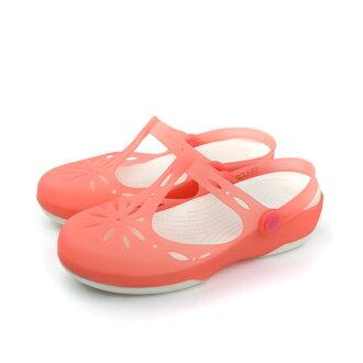 Crocs 涼鞋 粉 女款 no367