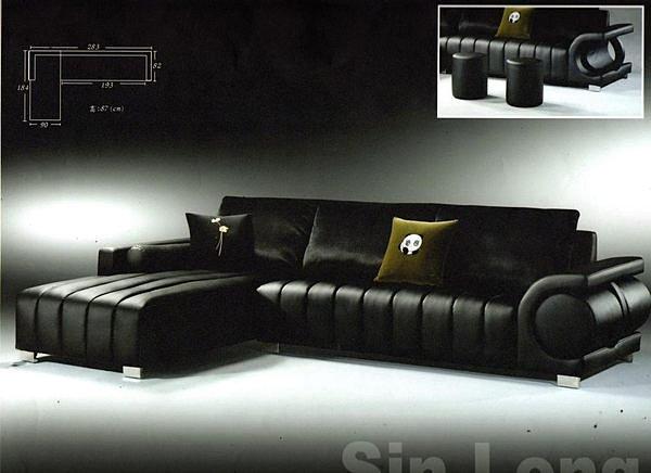 ~尚品 ~207~02 傑比 L型超纖皮紋沙發~ 有型~台中市部分 ~