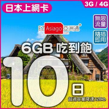 【日本】10天6GB無限量上網卡 Softbank電信 - 限時優惠好康折扣