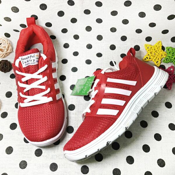 【限量優惠】女款超透氣運動休閒鞋[37098]紅超值價$200