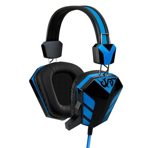 【迪特軍3C】E-books S28 電競音控頭戴耳機麥克風 E-EPA095 編織線抗拉扯 PU皮革耳罩