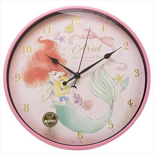 X射線【C064458】小美人魚Ariel燙金數字掛鐘,時鐘掛鐘壁鐘座鐘鬧鐘鐘錶手錶潛水錶