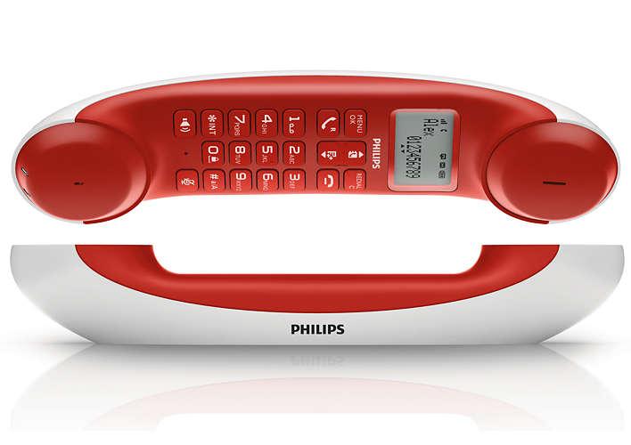 PHILIPS 飛利浦 M5501WR白紅 /  M5501  Mira 設計無線電話【葳豐數位商城】