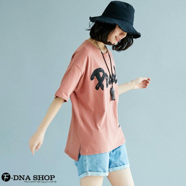 加大尺碼★F-DNA★Pearl英字印花短袖上衣T恤(2色-大碼F)【EG22053】 2