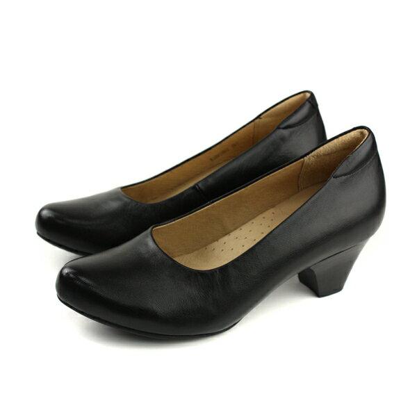 Kimo跟鞋低跟黑色女鞋K18SF138013no731