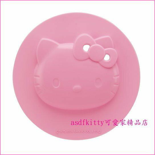 asdfkitty可愛家☆KITTY大矽膠微波蓋/開罐頭防滑墊/落蓋/鍋蓋/碗蓋-17.5公分-日本正版
