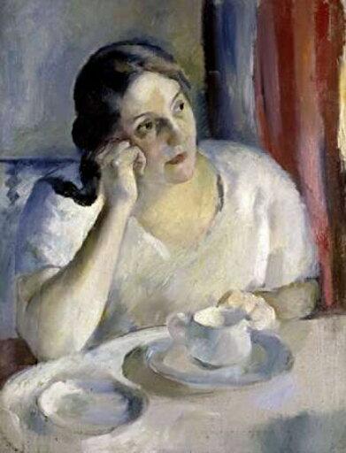A Cup of Tea La Tasse de Th Rolled Canvas Art - Henri Ottman (9 x 12) 036b72445a80a012f426018bac7ba832