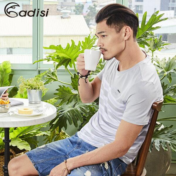 ADISI男短袖COOLMAX沁涼條紋休閒TAL1811052(S~2XL)城市綠洲專賣(微冰涼感、輕薄柔軟、透氣、易洗快乾)