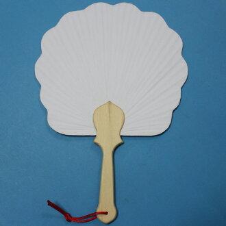3號花瓣空白紙扇子 木柄竹枝雙面紙彩繪扇子/一支入{促50}~5860