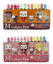 親子豆腐TO-FU OYAKO 24色水洗彩色筆 盒 TF-PG2111
