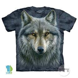 【摩達客】(預購) 美國進口The Mountain 勇戰之狼 純棉環保短袖T恤