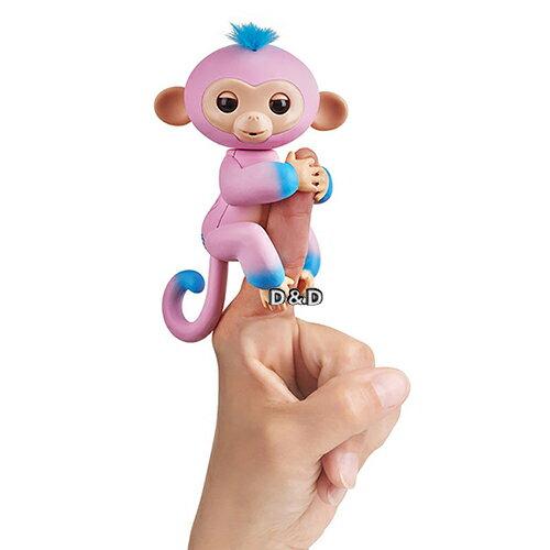 【Fingerlings】互動寵物猴-時尚撞色版手指猴(粉藍)