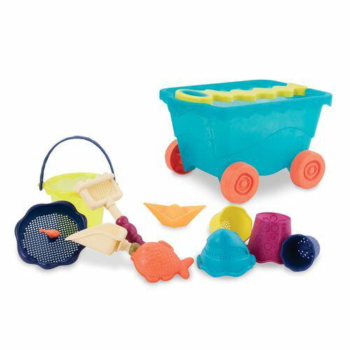 美國【B.Toys】感統玩具-挖挖兵拉拉車(海洋藍)BX1309Z#5905★衛立兒生活館★