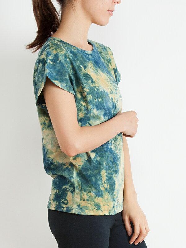 【Bali】100%有機棉自然紮染T恤 1
