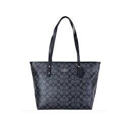 COACH F58292 女士女包購物袋托特包時尚百搭手提包經典C紋單肩包