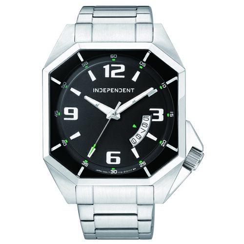 CITIZEN 星辰錶 INDEPENDENT IB5-713-51 多角形獨特設計腕錶 黑
