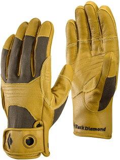BlackDiamondTransition耐磨羊皮工作手套垂降確保手套BD801853卡其