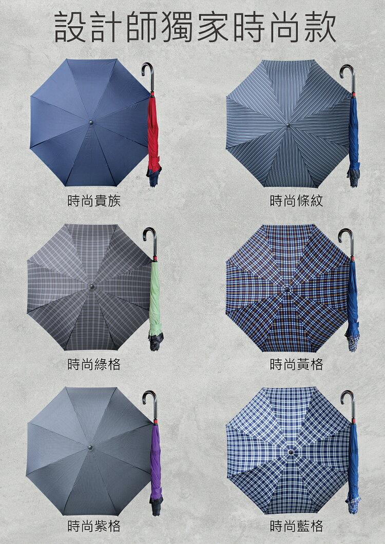 【Weather Me】印花精品雙骨專利反向傘(英倫格紋七款)