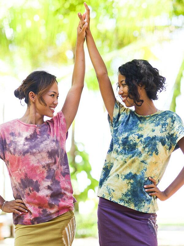 【Bali】100%有機棉自然紮染T恤 6