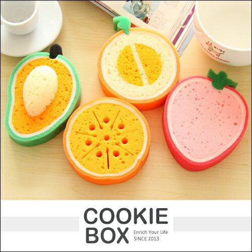仿真 水果款 加厚 清潔 海綿 菜瓜布 洗鍋刷 柔軟 洗碗布 廚房 哈密瓜 草莓 芒果 *餅乾盒子*