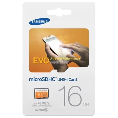Samsung EVO 16GB microSDHC Class 10 16G microSD micro SD SDHC 48MB/s UHS-I C10 MB-MP16D with Plastic Case 2