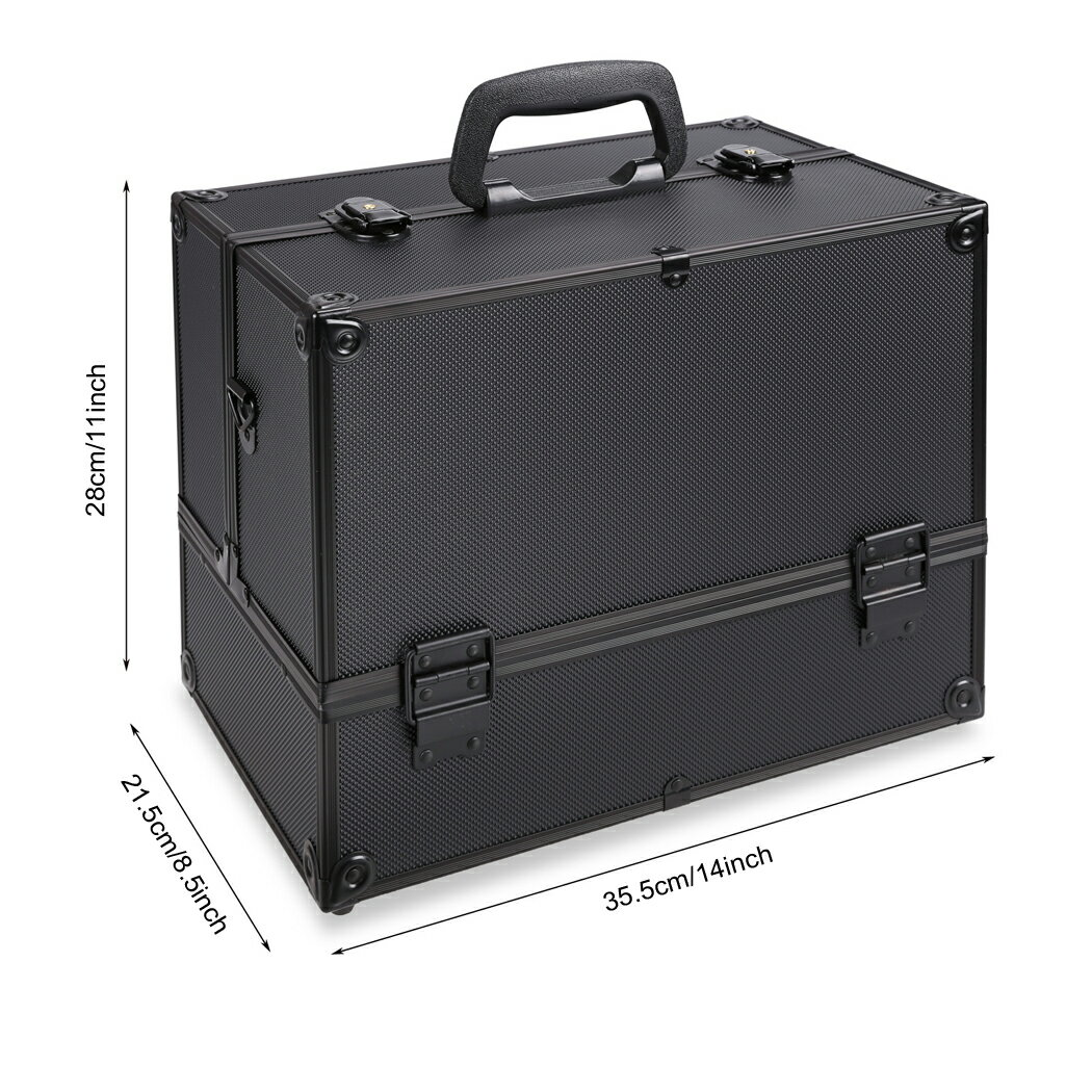 Cosmetic Organizer Home Case Jewelry Box Lockable Makeup Box 1