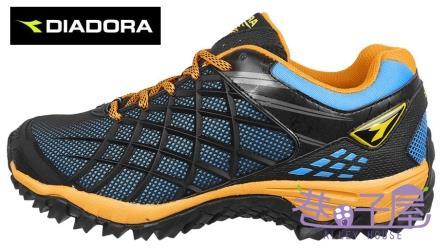 【巷子屋】義大利國寶鞋-DIADORA迪亞多納 男鞋KPU戶外越野跑鞋 [2330] 黑橘 超值價$966