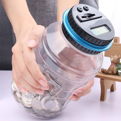 創意智能存錢筒(大號)塑料透明儲蓄罐電子自動計數存錢罐兒童生日禮物