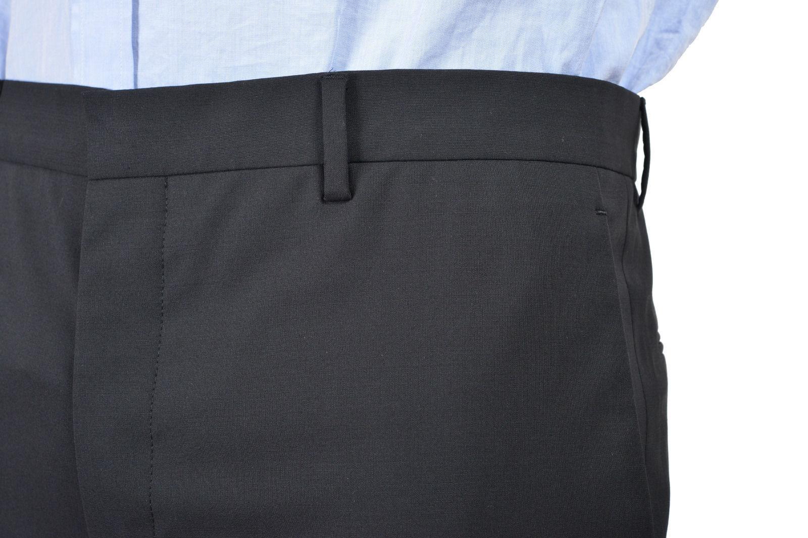 b41e0905 Prada Men's Black Flat Front Wool Pants Size US 30 IT 46