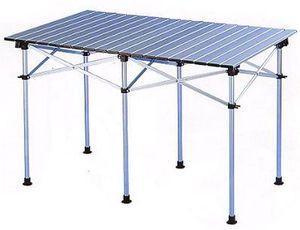 【【蘋果戶外】】Go Sport 92288 六人鋁合金蛋捲桌/六人鋁捲桌/折合桌/摺疊桌 (附收納袋)