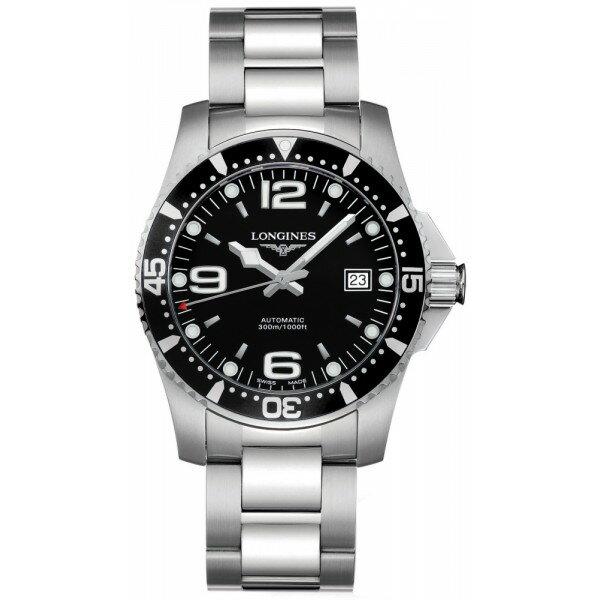 LONGINES L36414566深海征服者潛水經典面機械腕錶/黑面黑圈39mm