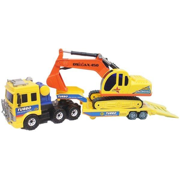 韓版 摩輪運輸車挖土機 DS-919/一台入(促1350) 摩輪拖板車怪手 ST安全玩具-生