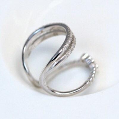 925純銀戒指開口戒-韓版高檔精緻多層情人節生日禮物女飾品73dt636【獨家進口】【米蘭精品】