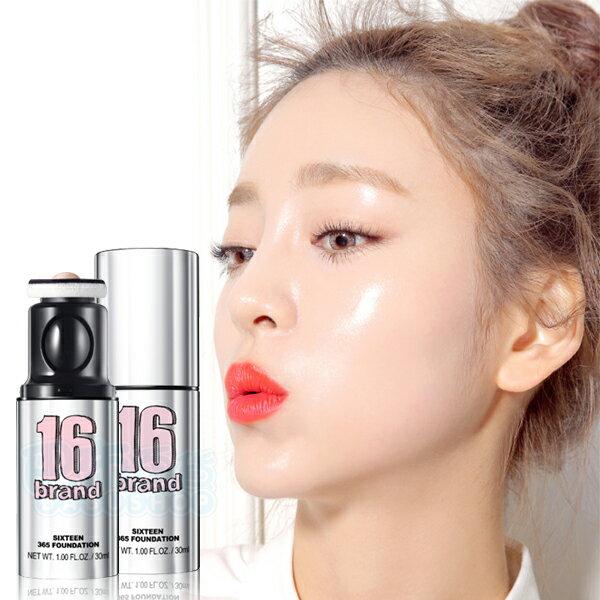 韓國 16 BRAND 拍拍水光感無暇按壓式粉底液(30ml)【巴布百貨】