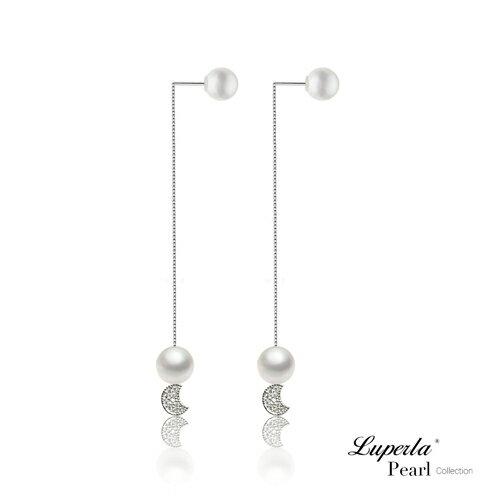 大東山珠寶 純潔月光 日本AKOYA天然海水珍珠純銀晶鑽耳環 雙珠耳線兩用款 5